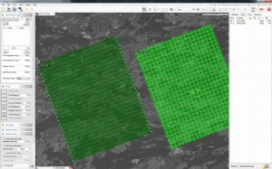 A GeoStar screen capture showing two maps side by side, one using scans and the other individual spots. The software can set up maps such as these in a matter of moments.
